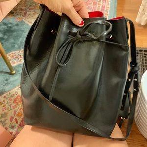 Mansur Gavriel Black Flamma large bucket bag